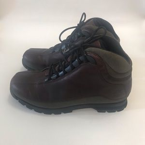 Timberland Brown Leather Lace Up Winter Boots 9 M